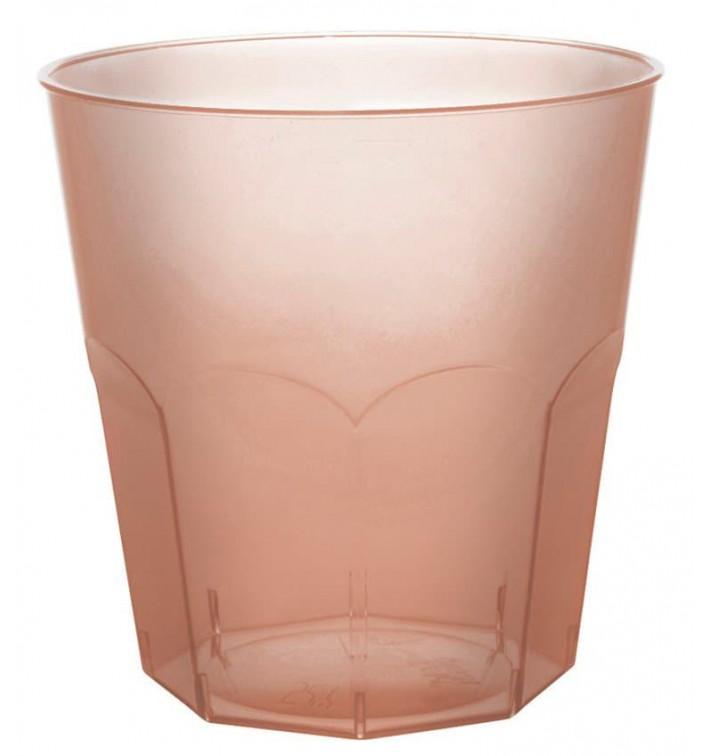 Bicchiere di Plastica Marrone Trasp. PS Ø73mm 220ml (50 Pezzi)