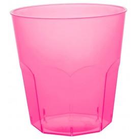 Bicchiere di Plastica Fucsia Trasp. PS Ø73mm 220ml (50 Pezzi)