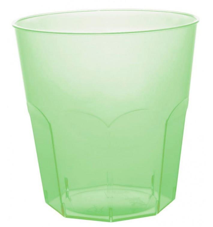 Bicchiere di Plastica Verde Trasp. PS Ø73mm 220ml (1000 Pezzi)