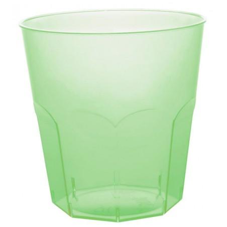 Bicchiere di Plastica Verde Trasp. PS Ø73mm 220ml (500 Pezzi)