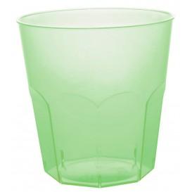 Bicchiere di Plastica Verde Trasp. PS Ø73mm 220ml (50 Pezzi)