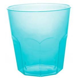 Bicchiere Plastica Turchese Transp. PS Ø73mm 220ml (50 Pezzi)