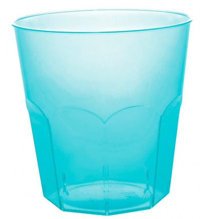 Bicchiere di Plastica Turchese Trasp. PS Ø73mm 220ml (50 Pezzi)