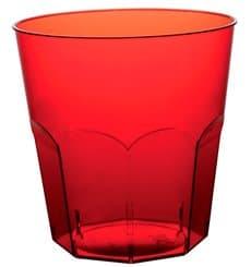 Bicchiere di Plastica Rosso Trasp. PS Ø73mm 220ml (50 Pezzi)