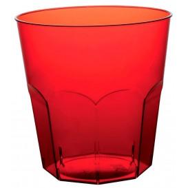 Bicchiere di Plastica Rosso Trasp. PS Ø73mm 220ml (500 Pezzi)