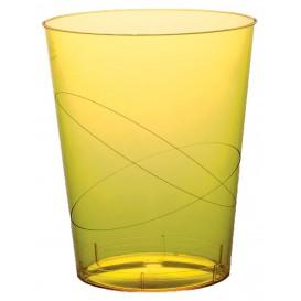 Bicchiere di Plastica Moon Giallo Trasp. PS 350ml (20 Pezzi)