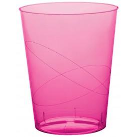 Bicchiere di Plastica Moon Fucsia Trasp. PS 350ml (20 Pezzi)