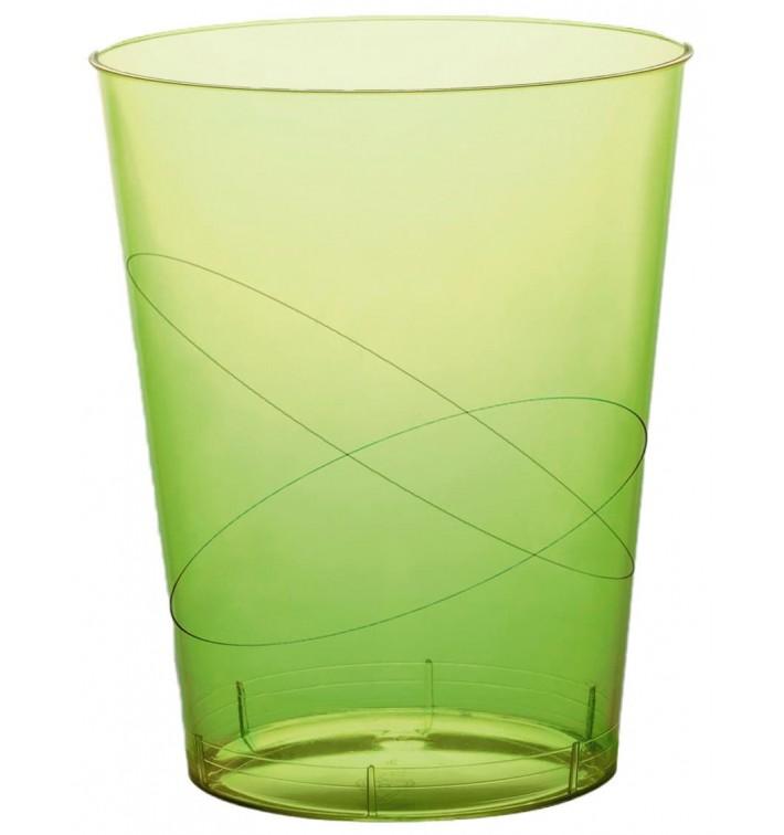 Bicchiere di Plastica Moon Verde Acido Trasp. PS 350ml (50 Pezzi)