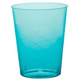 Bicchiere di Plastica Moon Turchese Trasp. PS 350ml (200 Pezzi)