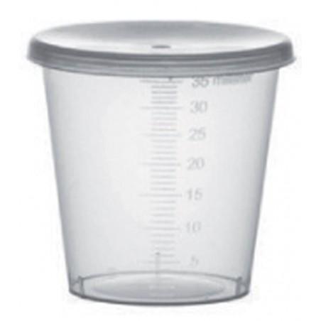 Coperchio per Bicchiere Graduato PP Trasp. 35ml Ø4,5cm (250 Pezzi)