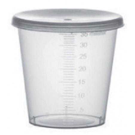 Coperchio Cupola Buco per Bicchieri PET 9 Oz/265ml Ø7,5cm (50 Pezzi)