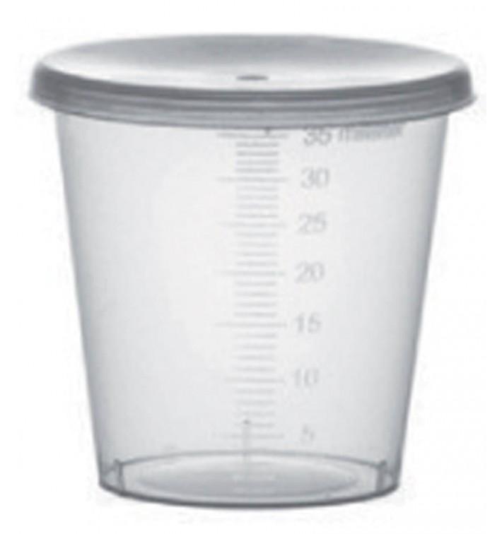 Coperchio per Bicchieri Graduata PP Trasp. 35ml Ø4,5cm (2000 Pezzi)