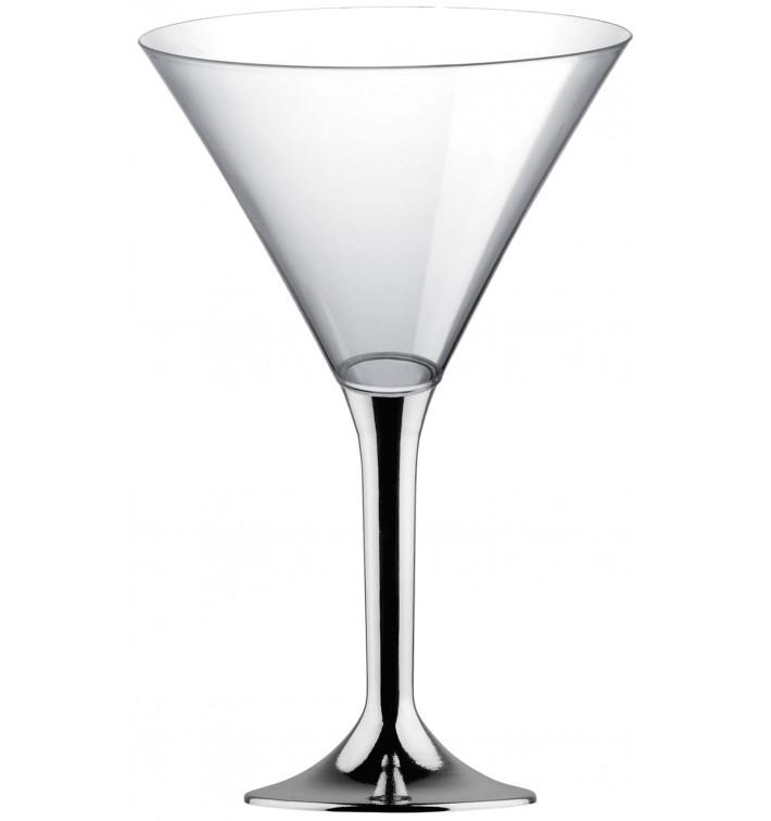 Coppa Plastica Cocktail Gambo Argento Cromato 185ml 2P (20 Pezzi)