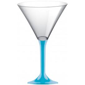 Calice di Plastica Cocktail Gambo Turchese 185ml (200 Pezzi)