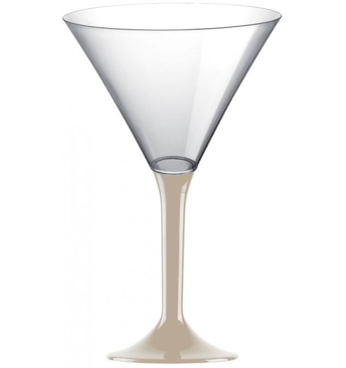 Coppa Plastica Cocktail Gambo Beige 185ml 2P (20 Pezzi)