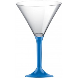 Coppa di Plastica Cocktail con Gambo Blu Transp. 185ml (200 Pezzi)