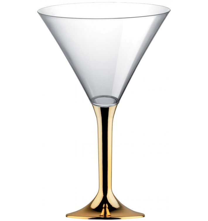 Coppa Plastica Cocktail Gambo Oro Cromo 185ml 2P (200 Pezzi)