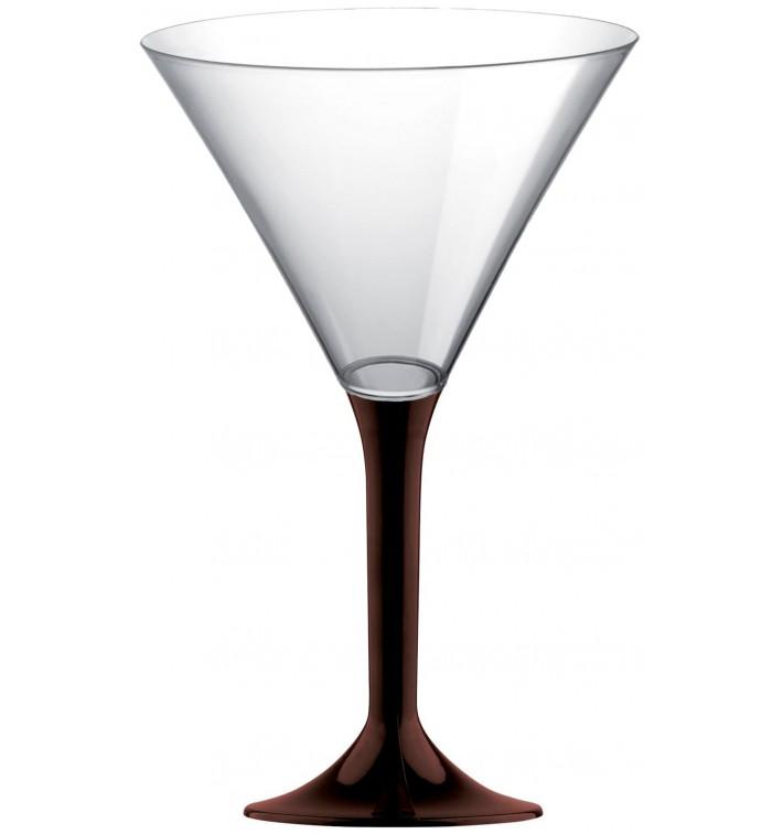 Coppa Plastica Cocktail Gambo Marrone 185ml 2P (20 Pezzi)