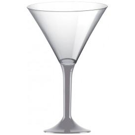Calice di Plastica Cocktail Gambo Grigio 185ml (200 Pezzi)