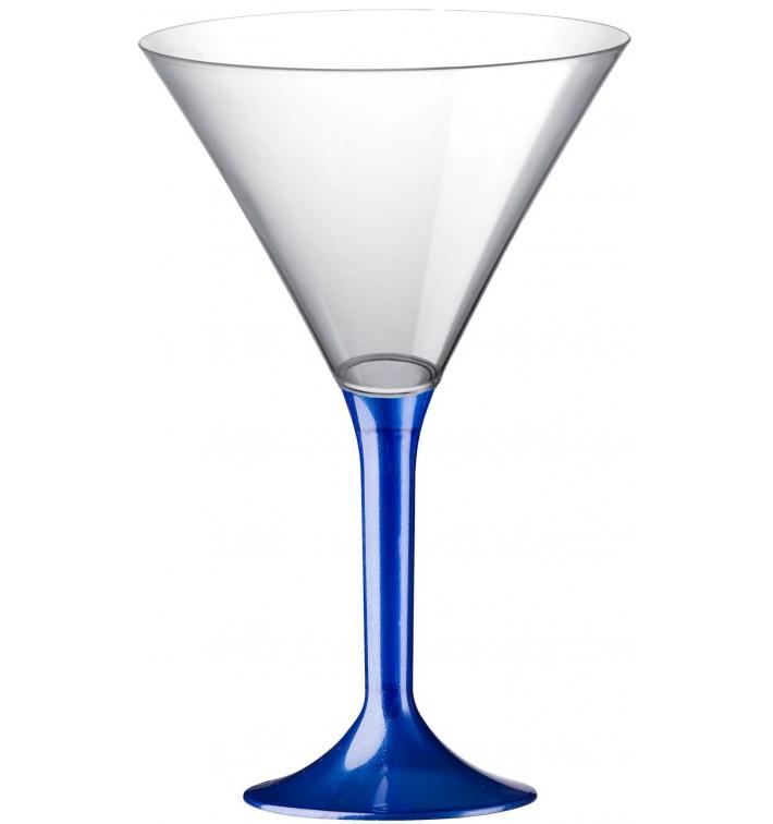 Coppa Plastica Cocktail Gambo Blu Perlato 185ml 2P (20 Pezzi)