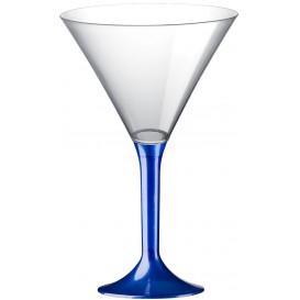 Coppa Plastica Cocktail Gambo Blu Perlato 185ml 2P (200 Pezzi)