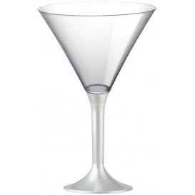 Coppa Plastica Cocktail Gambo Bianco Perlato 185ml 2P (20 Pezzi)