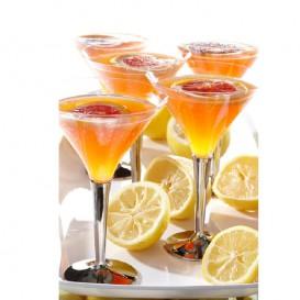Coppa di Plastica Cocktail con Gambo Argento 100 ml (48 Pezzi)