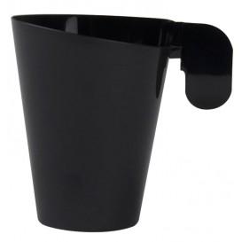 Tazze di Plastica Design Nero 155ml (12 Pezzi)