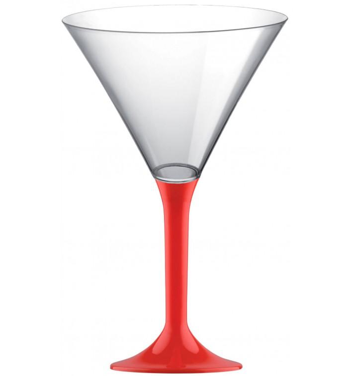 Coppa Plastica Cocktail Gambo Red 185ml 2P (20 Pezzi)
