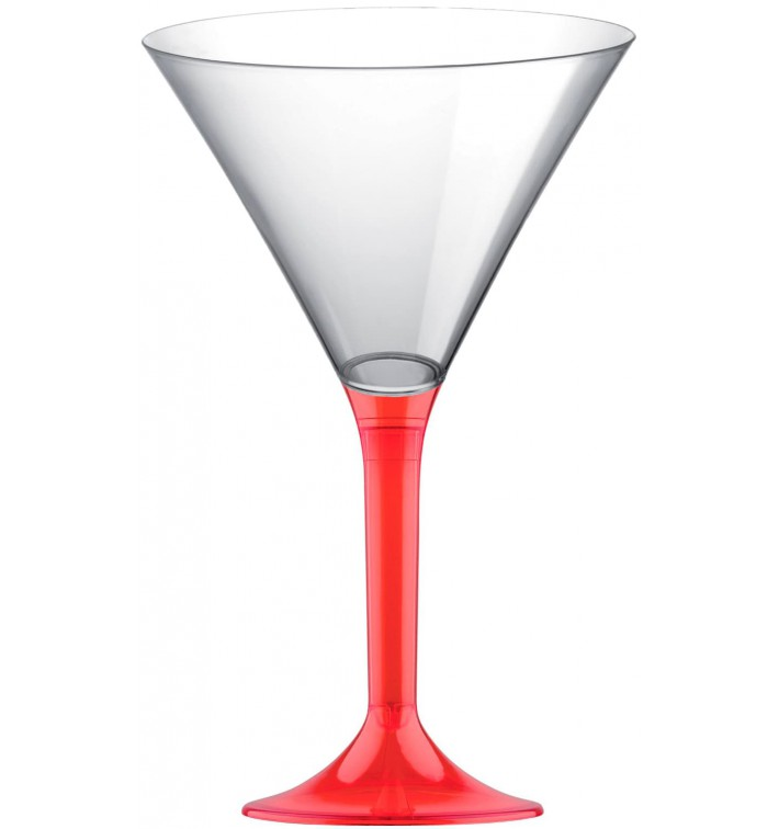 Coppa Plastica Cocktail Gambo Red Transp. 185ml 2P (200 Pezzi)