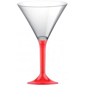 Coppa Plastica Cocktail Gambo Red Transp. 185ml 2P (20 Pezzi)