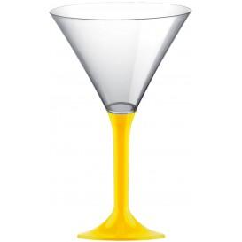 Coppa Plastica Cocktail Gambo Giallo 185ml 2P (20 Pezzi)