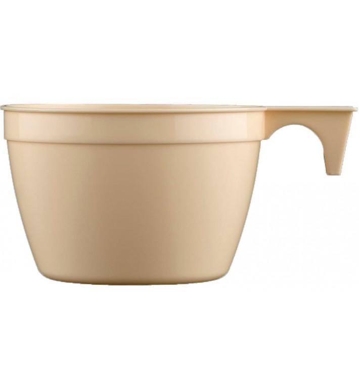 Tazze di Plastica Cup Beige PP 90ml (50 Pezzi)
