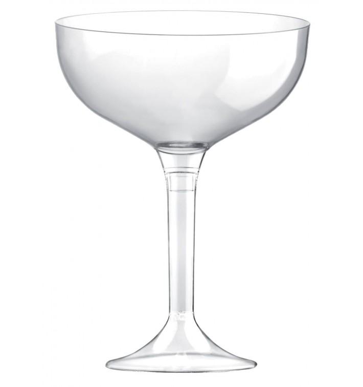 Coppa Plastica Champagne Gambo Transparente 200ml 2P (200 Pezzi)