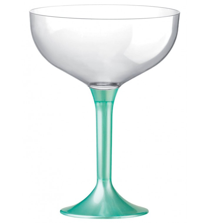 Coppa Plastica Champagne Gambo Tiffany Perlati 200ml 2P (200 Pezzi)