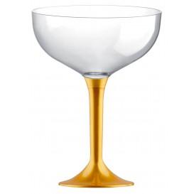 Coppa Plastica Champagne Gambo Oro 200ml 2P (20 Pezzi)