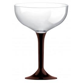 Coppa di Plastica da Champagne Gambo Marrone 200ml (200 Pezzi)