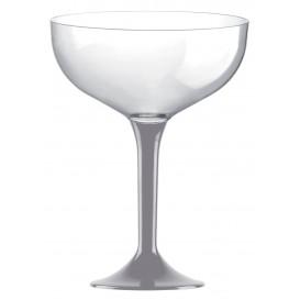 Coppa Plastica Champagne Gambo Grigio 200ml 2P (20 Pezzi)