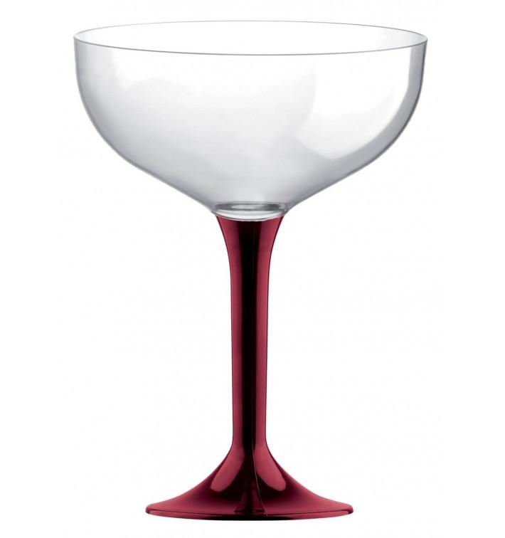 Coppa Plastica Champagne Gambo Bordò 200ml 2P (200 Pezzi)