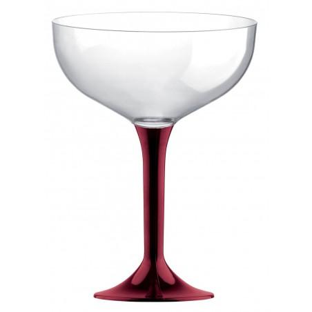 Coppa di Plastica da Champagne Gambo Bordò 200ml (200 Pezzi)