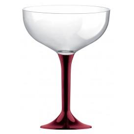 Coppa Plastica Champagne Gambo Bordò 200ml 2P (20 Pezzi)