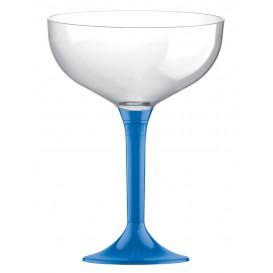 Coppa Plastica Champagne Gambo Blu Transp. 200ml 2P (200 Pezzi)