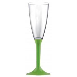 Calice Plastica Flute Gambo Verde Pistacchio 120ml 2P (200 Pezzi)