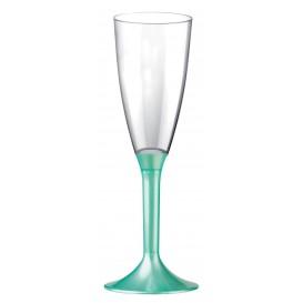 Calice Plastica Flute Gambo Tiffany Perlato 120ml 2P (20 Pezzi)