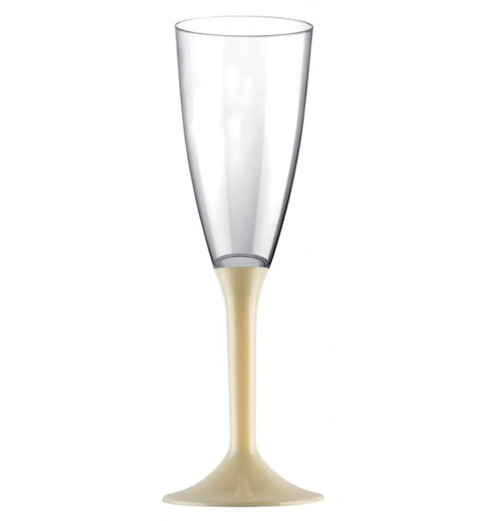 Calice Plastica Flute Gambo Crema 120ml 2P (200 Pezzi)