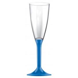 Calice Plastica Flute Gambo Blu Transp. 120ml 2P (20 Pezzi)