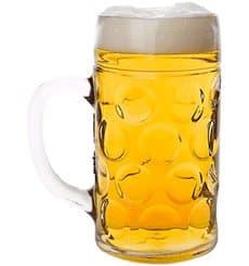 Boccale Riutilizzabili SAN per Birra Trasp.1000ml (6 Pezzi)