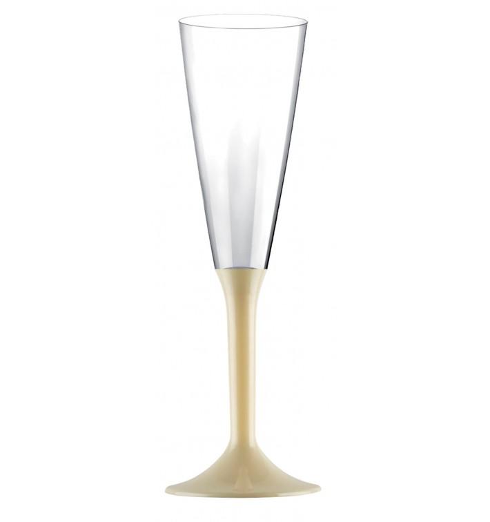 Calice Plastica Flute Gambo Crema 160ml 2P (200 Pezzi)