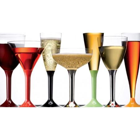 Calice di Plastica Vino Trasparente 130ml (100 Pezzi)