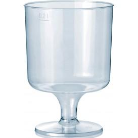 Calice con Gambo di Plastica 200 ml 1P (10 Pezzi)